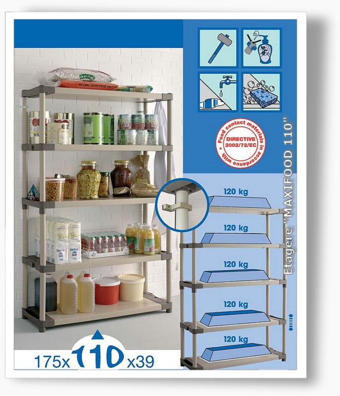 Etagere alimentaire maxifood 110 - Etagere alimentaire rangement ...